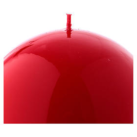 Bougie Sphère Brillante Ceralacca diam. 12 cm rouge s2