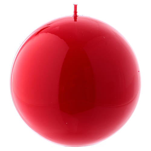 Bougie Sphère Brillante Ceralacca diam. 12 cm rouge 1
