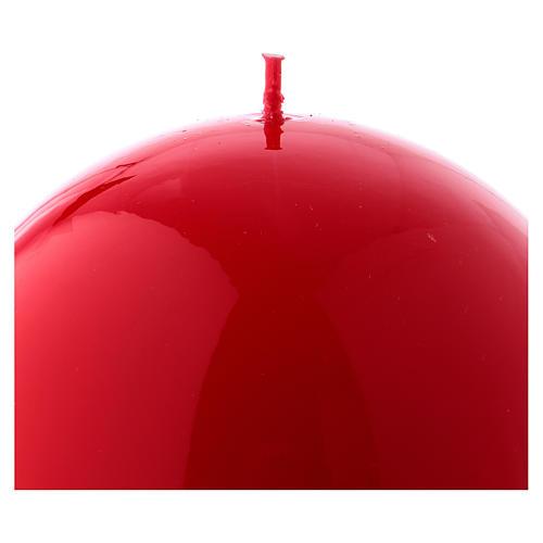 Bougie Sphère Brillante Ceralacca diam. 12 cm rouge 2