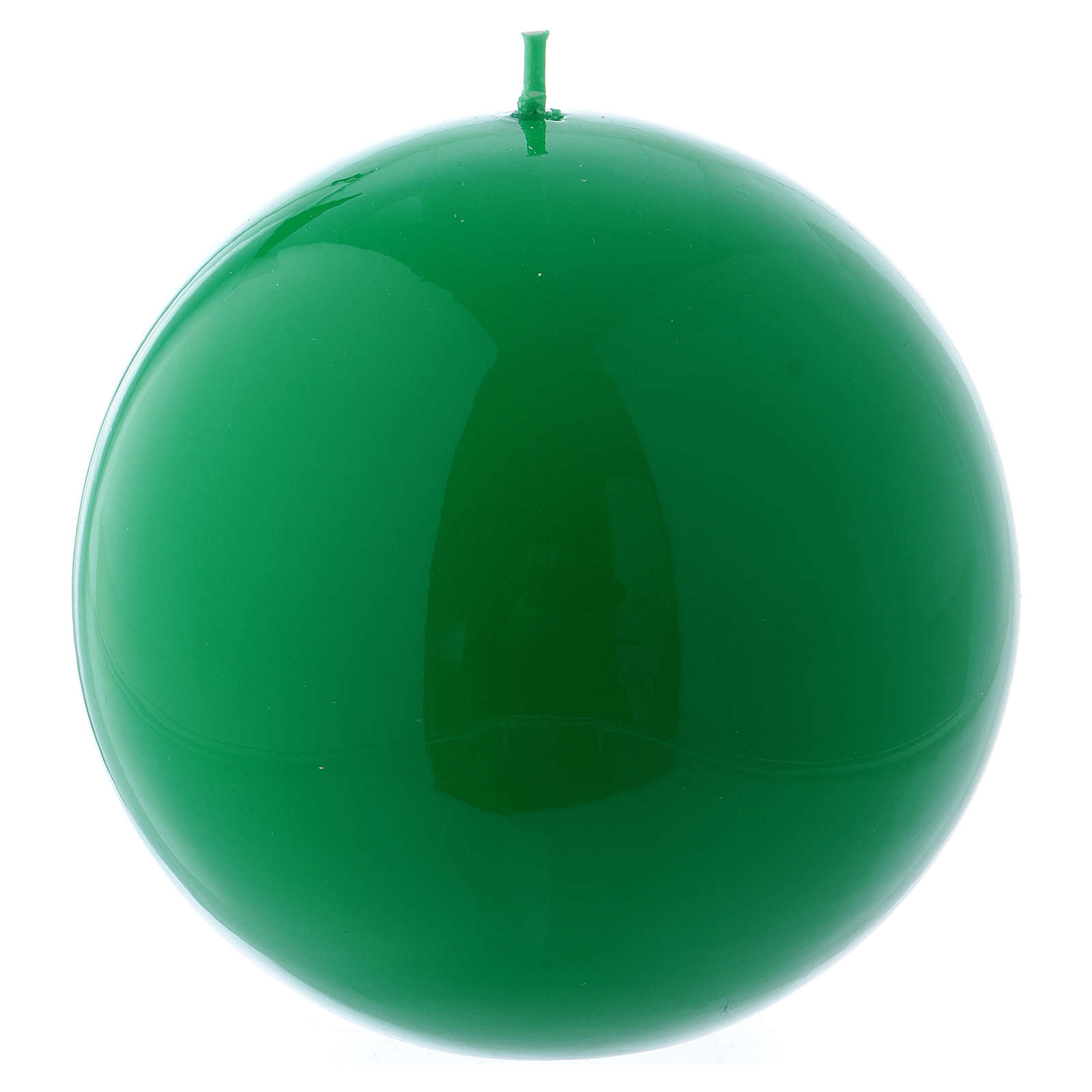 Spherical green Ceralacca candle diameter 12 cm 3