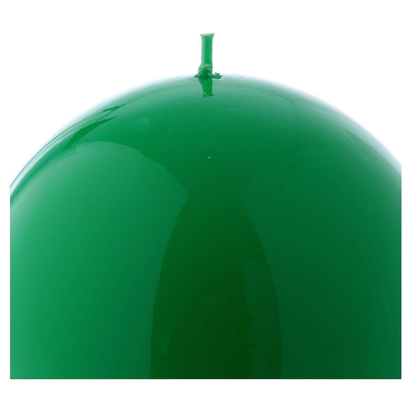 Vela Esfera Lúcida Lacre d. 12 cm verde 3