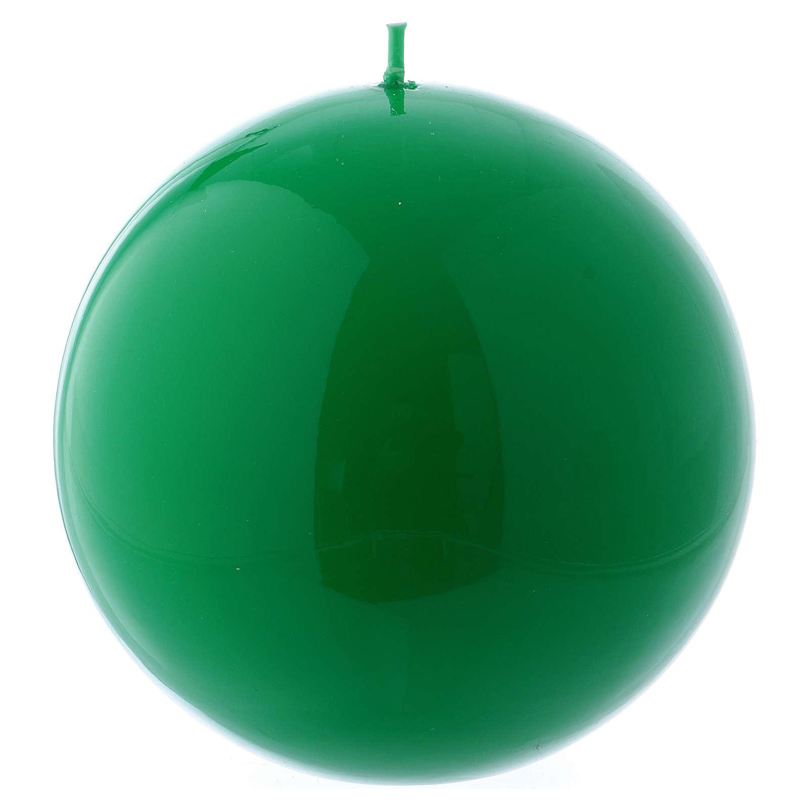 Candela Sfera Lucida Ceralacca d. 12 cm verde 3