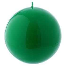 Glossy Sphere Candle Ceralacca, d. 12 cm green s1