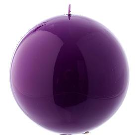 Vela Esfera Brilhante Ceralacca diâm. 12 cm roxa s1