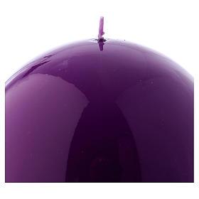 Vela Esfera Brilhante Ceralacca diâm. 12 cm roxa s2