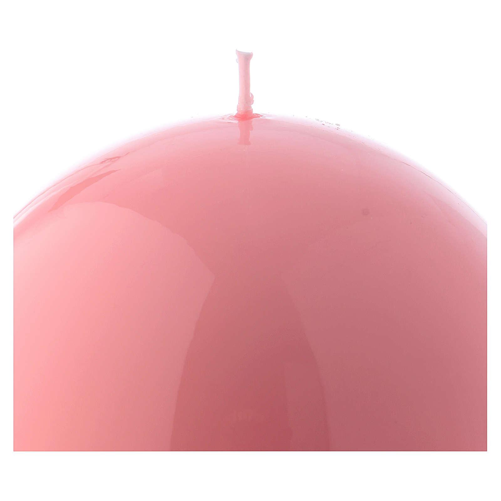 Bougie Sphère Brillante Ceralacca diam. 12 cm rose 3