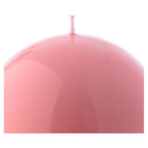 Bougie Sphère Brillante Ceralacca diam. 12 cm rose 2