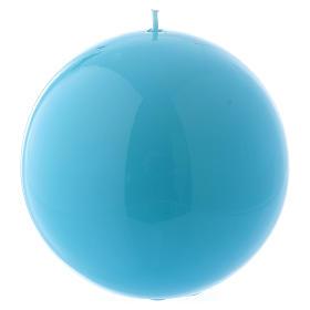 Bougies, cierges, chandelles: Bougie Sphère Brillante Ceralacca diam. 12 cm bleu clair
