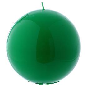 Bougies, cierges, chandelles: Bougie Sphère Brillante Ceralacca diam. 15 cm vert