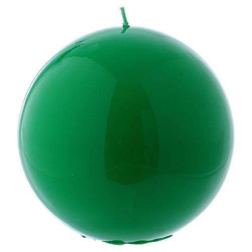 Bougie Sphère Brillante Ceralacca diam. 15 cm vert 1