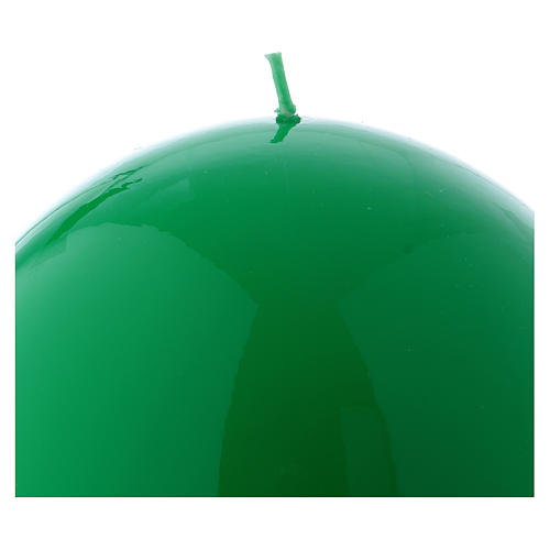 Bougie Sphère Brillante Ceralacca diam. 15 cm vert 2