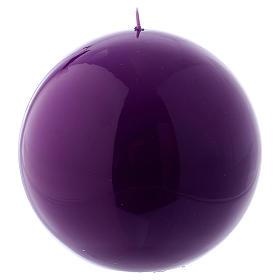 Bougies, cierges, chandelles: Bougie Sphère Brillante Ceralacca diam. 15 cm violet