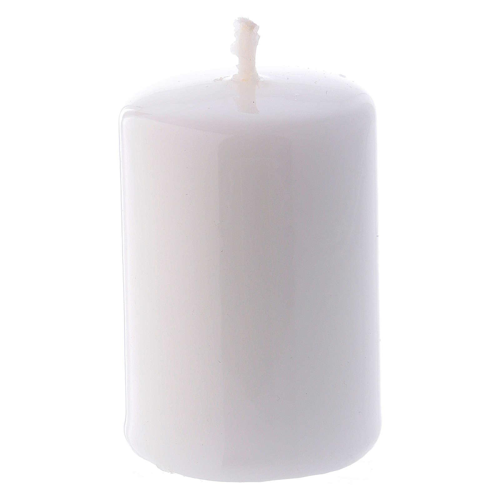 Bougie Brillante Ceralacca 4x6 cm blanche 3