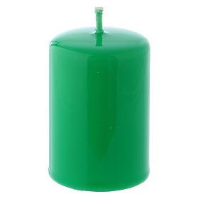 Velas, cirios, velones: Vela Lúcida Lacre 4x6 cm verde