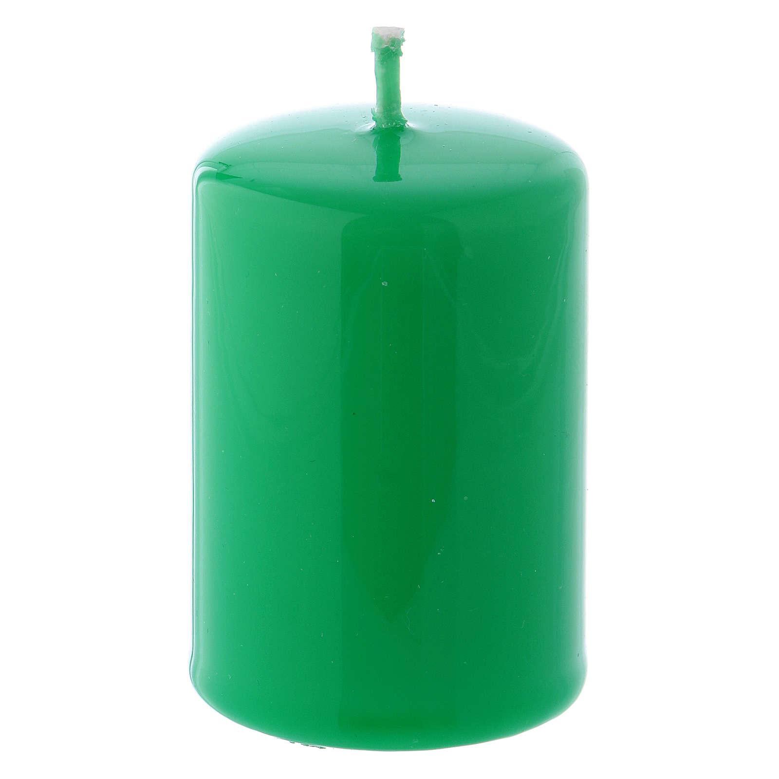 Bougie Brillante Ceralacca 4x6 cm vert 3
