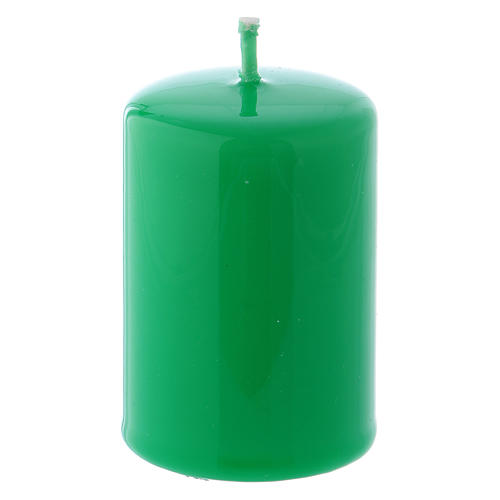 Bougie Brillante Ceralacca 4x6 cm vert 1