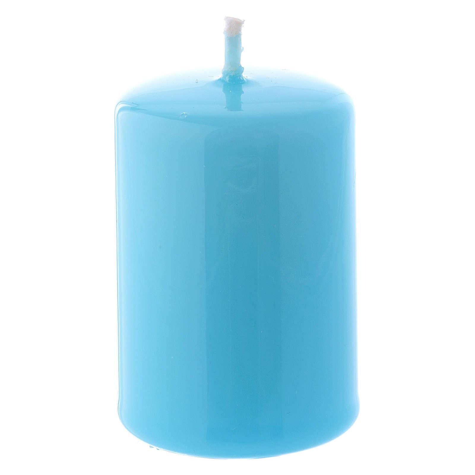 Bougie Brillante Ceralacca 4x6 cm bleu clair 3
