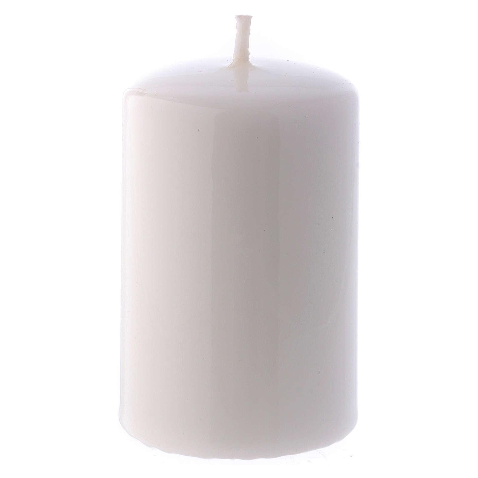 Candelotto Lucido Ceralacca 5x8 cm bianco 3