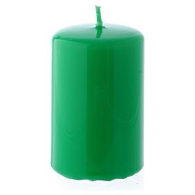 Bougies, cierges, chandelles: Bougie Brillante Ceralacca 5x8 cm vert
