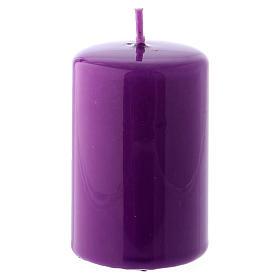Bougies, cierges, chandelles: Bougie Brillante Ceralacca 5x8 cm violet