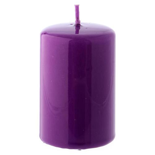 Bougie Brillante Ceralacca 5x8 cm violet 1