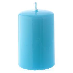Bougies, cierges, chandelles: Bougie Brillante Ceralacca 5x8 cm bleu clair