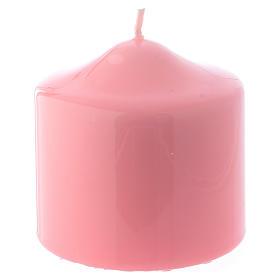 Bougies, cierges, chandelles: Bougie Brillante Ceralacca rose 8x8 cm