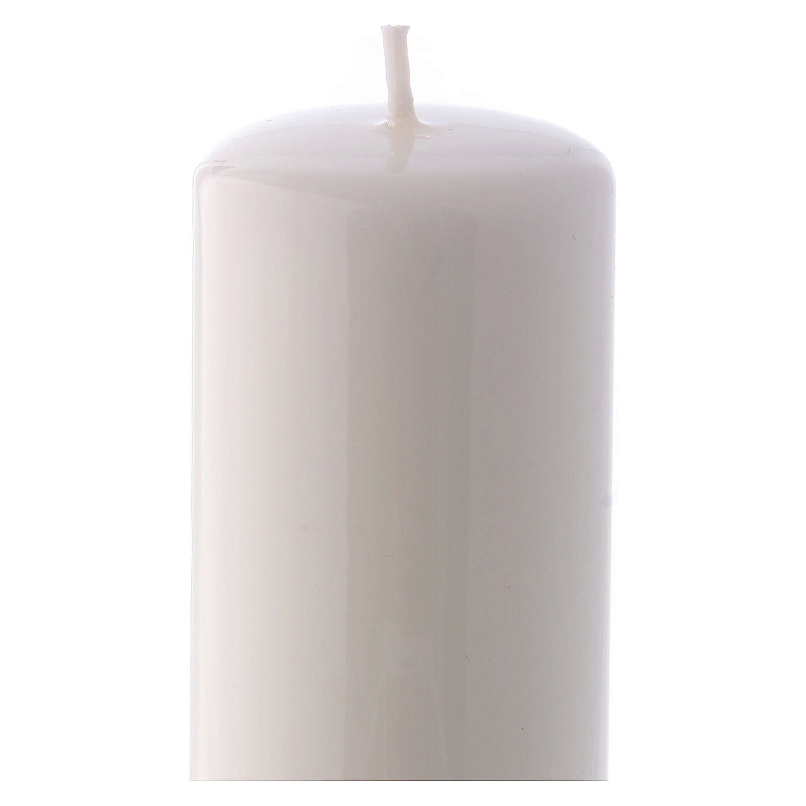 Bougie blanche Brillante Ceralacca 5x13 cm 3