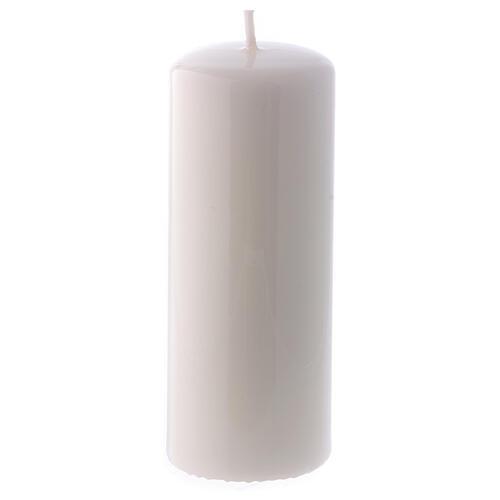 Shiny White Pillar Candle Ceralacca, 5x13 cm 1