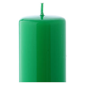 Vela verde Lúcida Lacre 5x13 cm s2