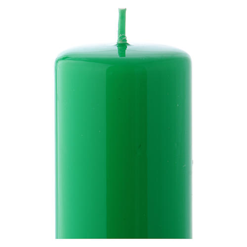 Vela verde Lúcida Lacre 5x13 cm 2