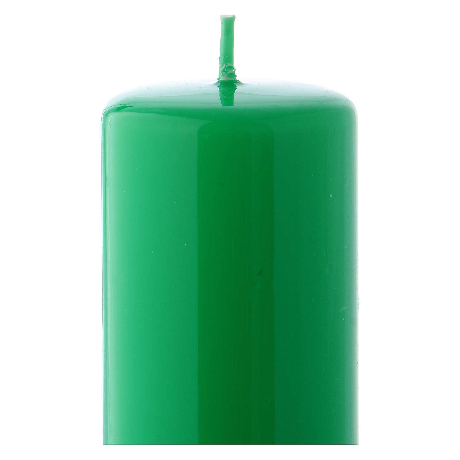 Candelotto verde Lucido Ceralacca 5x13 cm 3