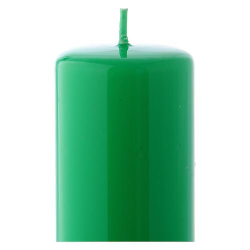Candelotto verde Lucido Ceralacca 5x13 cm 2