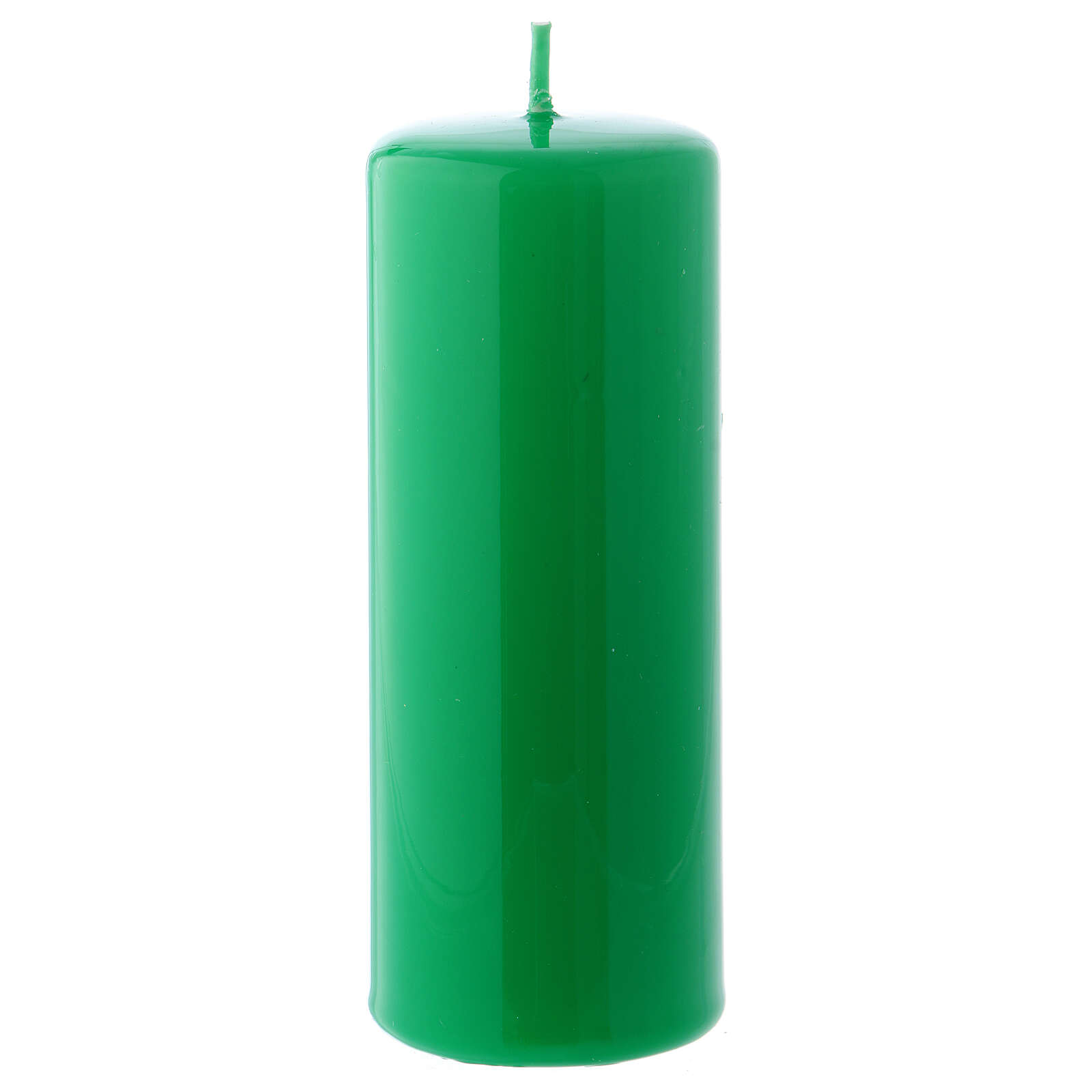 Shiny Green Pillar Candle Ceralacca, 5x13 cm 3