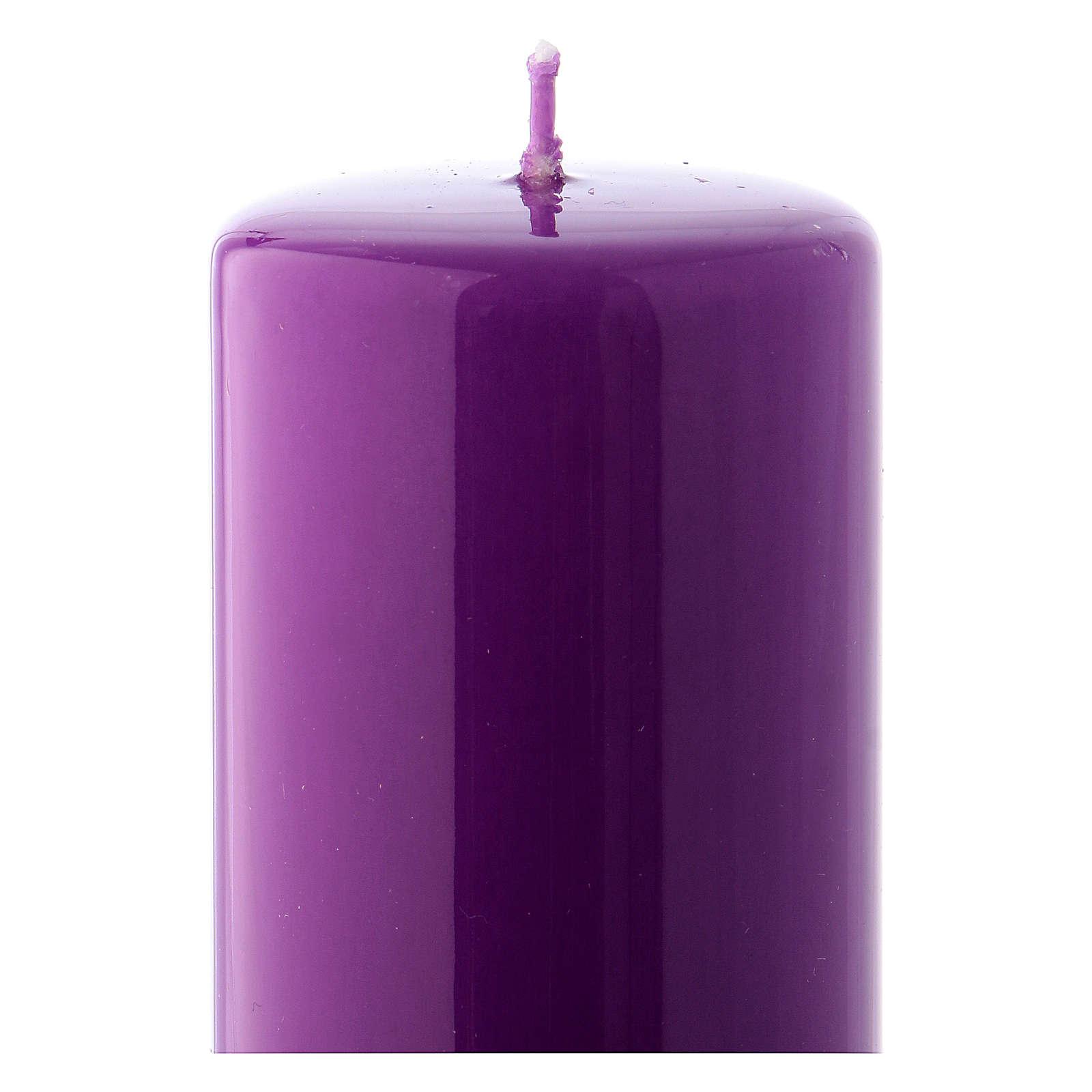 Bougie violet Brillante Ceralacca 5x13 cm 3