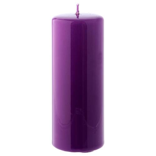 Bougie violet Brillante Ceralacca 5x13 cm 1