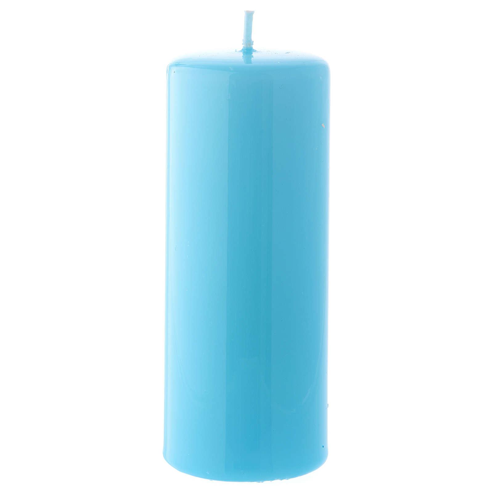 Bougie bleue claire Brillante Ceralacca 5x13 cm 3