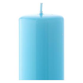 Bougie bleue claire Brillante Ceralacca 5x13 cm s2