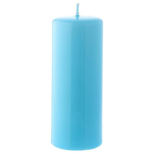 Candelotto azzurro Lucido Ceralacca 5x13 cm 1