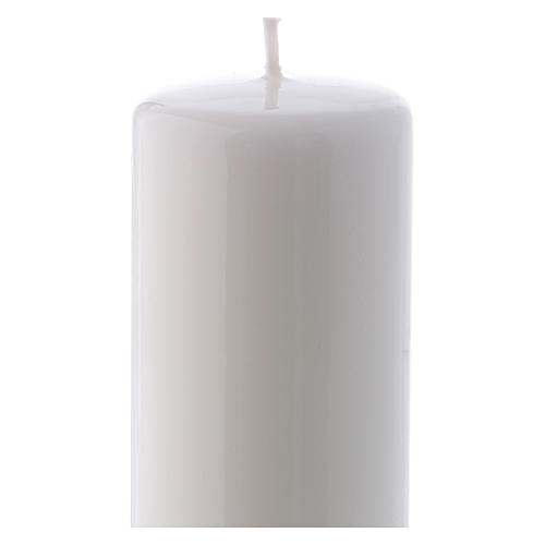 Ceralacca white wax candle 6x15 cm 2