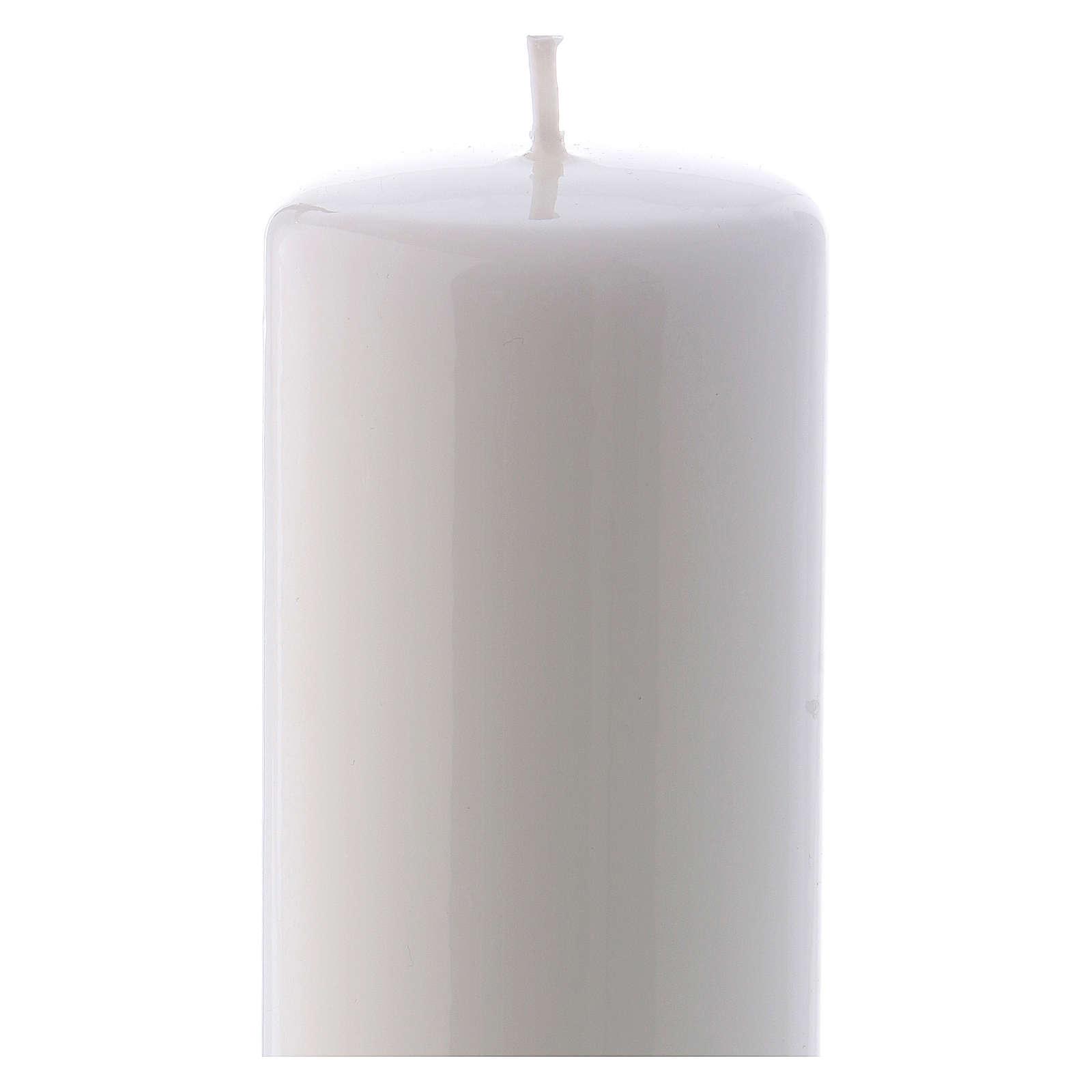 Vela blanca Lúcida Lacre 6x15 cm 3