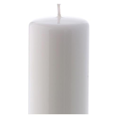 Bougie blanche Brillante Ceralacca 6x15 cm 2
