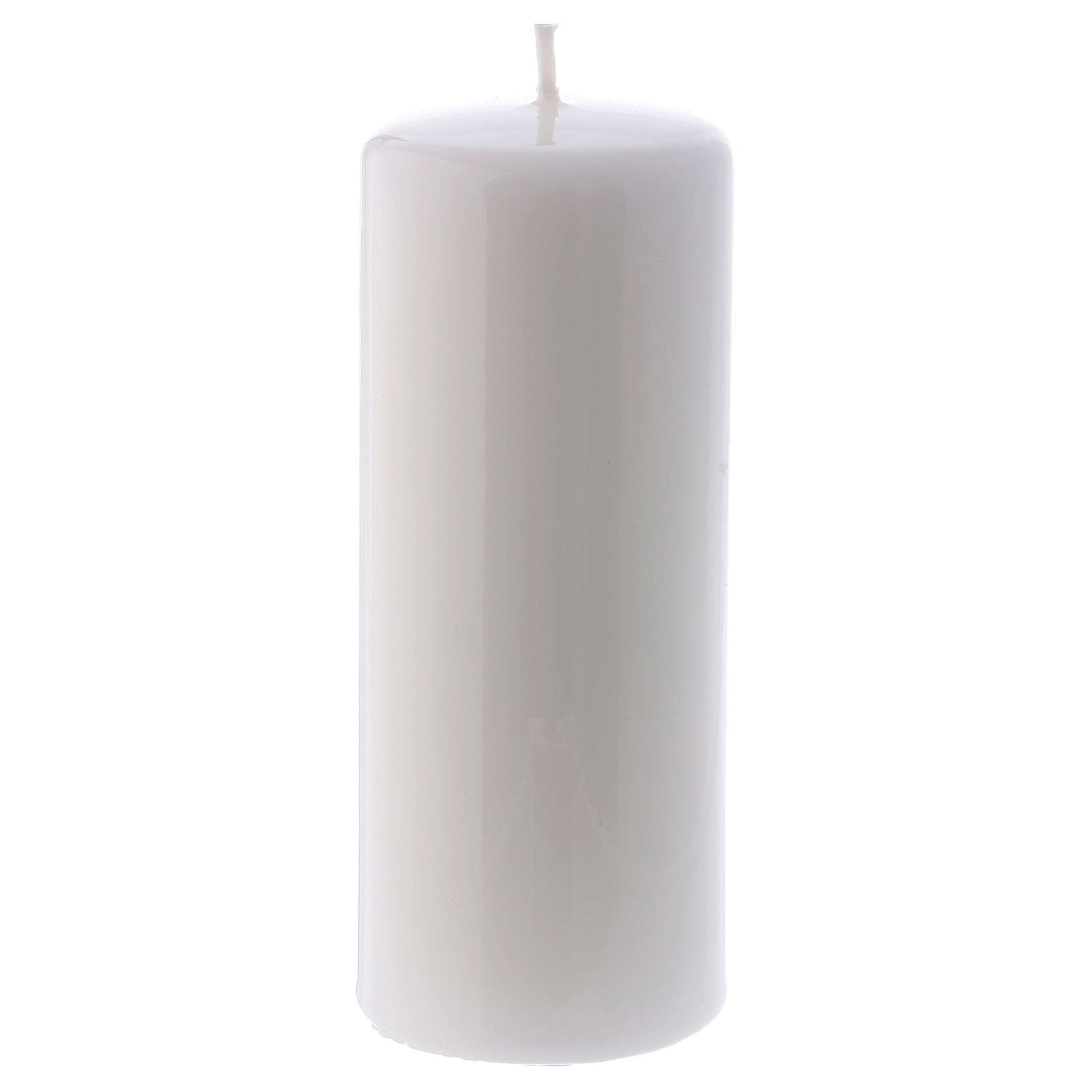 Vela branca Brilhante Ceralacca 6x15 cm 3