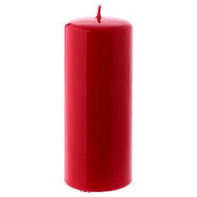 Bougies, cierges, chandelles: Bougie rouge Brillante Ceralacca 6x15 cm