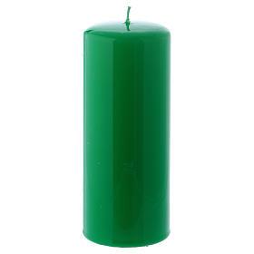 Bougies, cierges, chandelles: Bougie verte Brillante Ceralacca 6x15 cm