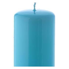 Candelotto azzurro Lucido Ceralacca 6x15 cm s2