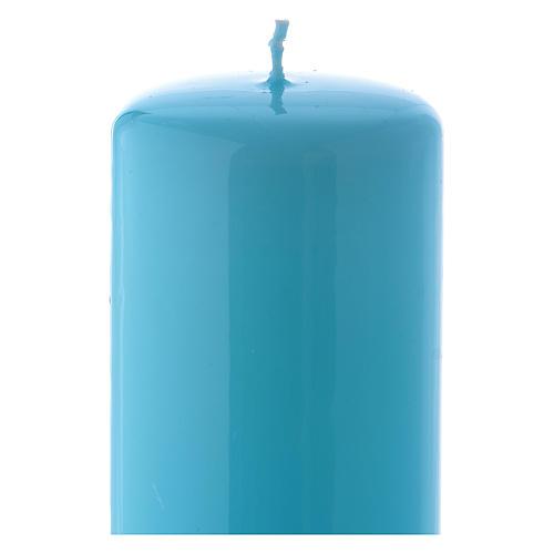 Candelotto azzurro Lucido Ceralacca 6x15 cm 2