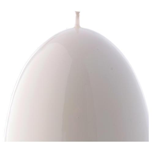 Bougie blanche Brillante Oeuf Ceralacca diam. 100 mm 2