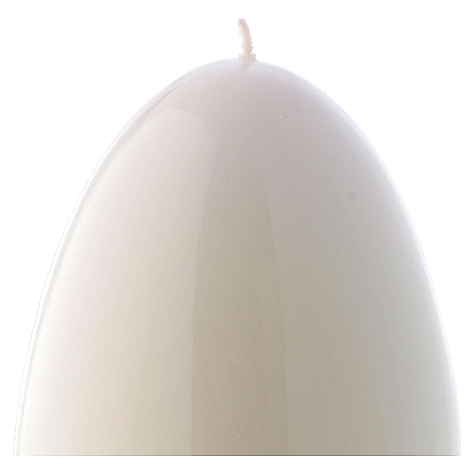 Bougie blanche Brillante Ceralacca Oeuf diam. 140 mm 3