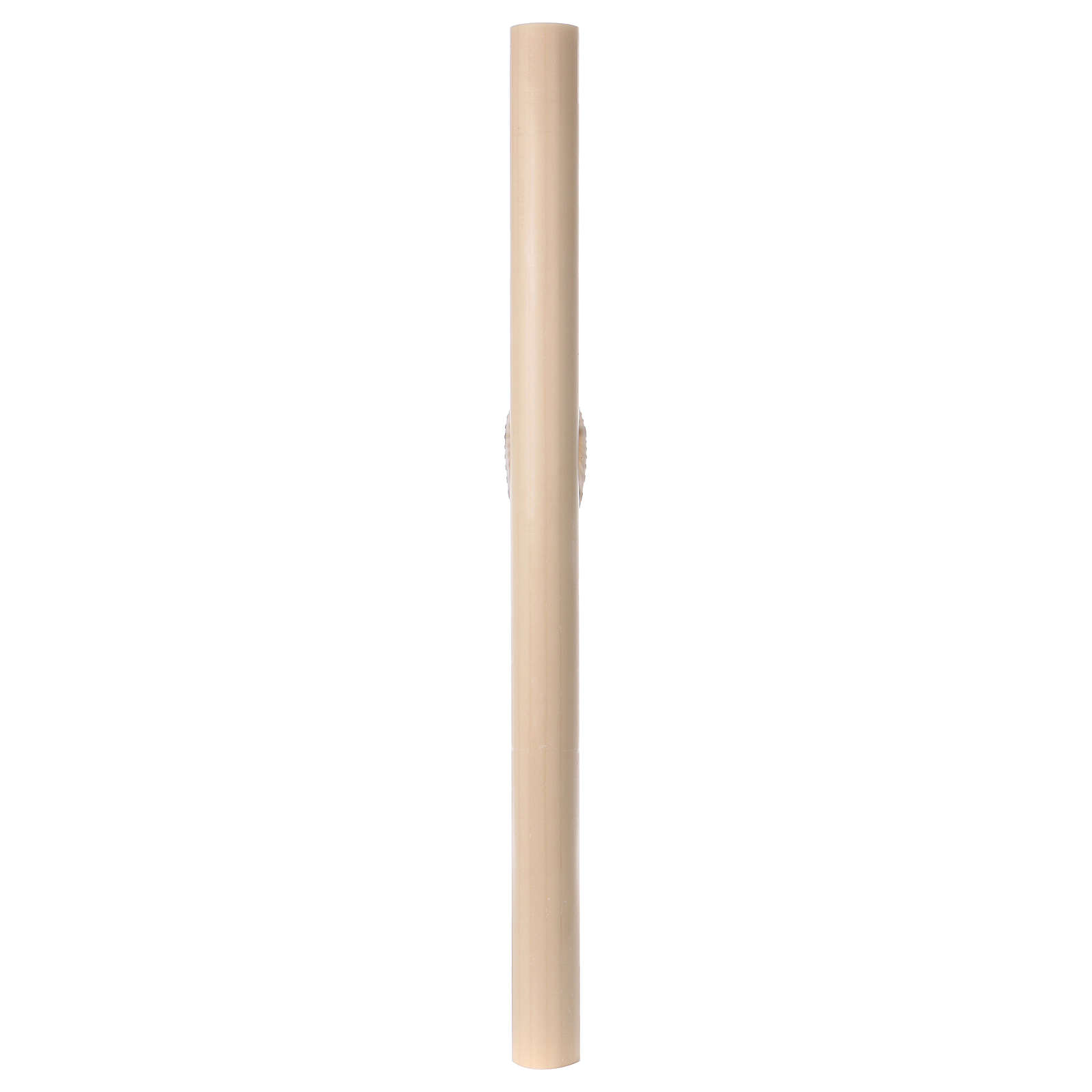 Beeswax Paschal Candle with Cross, Dove, Alpha and Omega 8x120 cm 3
